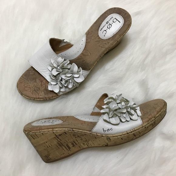 52cf19158e Born Shoes | Boc White Floral Wedge Sandals | Poshmark